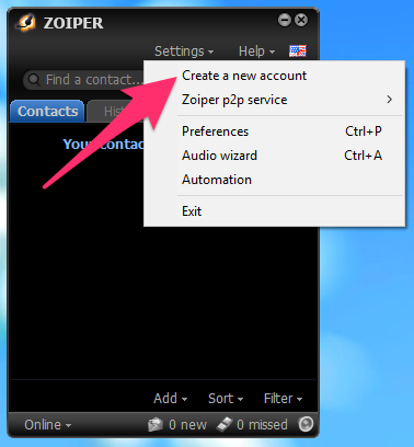 Zoiper proxy settings